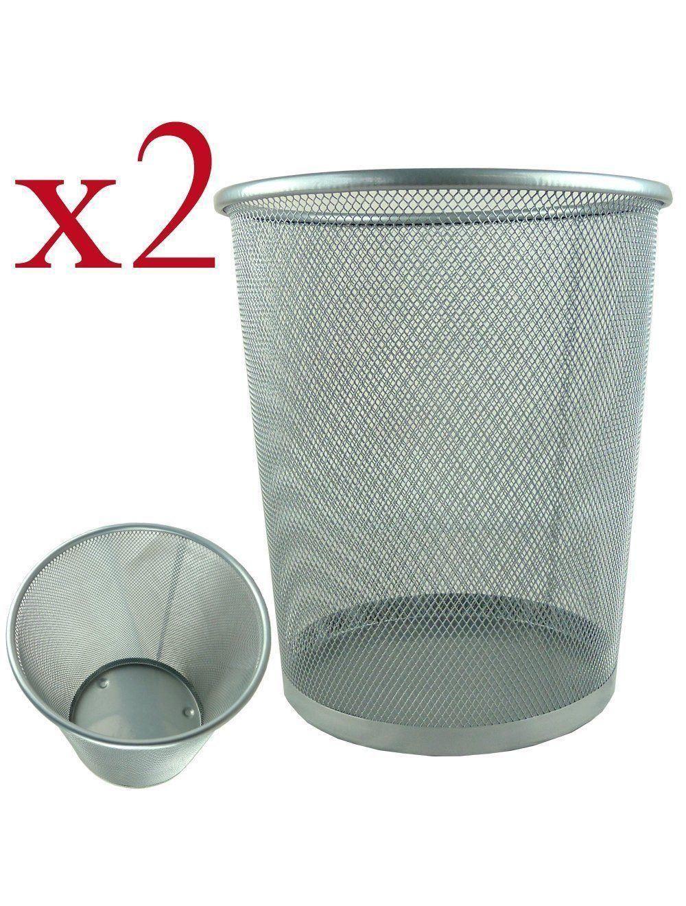 Buy 2x Bin Waste Paper Basket Rubbish Bedroom Room Kitchen Office Wicker From Unibos