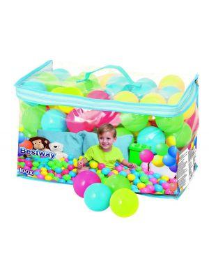 Bestway 6.5cm Splash and Play 100-Bouncing Balls