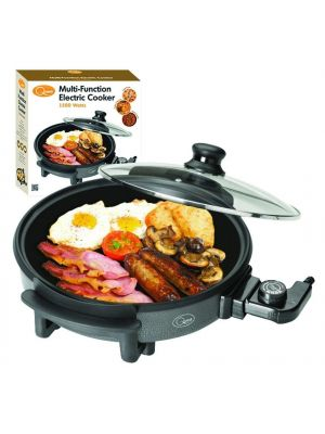 Non Stick Multi Function Electric Cooker Frying Pan Oven with Lid 1500w