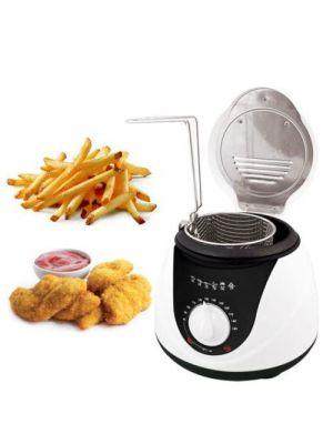 1L Electric Mini Deep Fryer Non Stick & Safe Basket 900 Watt