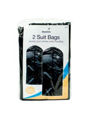New - Pack of 2 x Suit Bags - Garment Protector Carrier - Zipped - Heavy Duty - Woven Synthetic Fibre - Useful to Protect Garments when Travelling