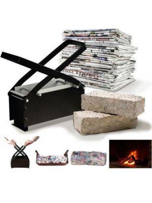 Paper Log Brick Briquette Solid Fuel Maker