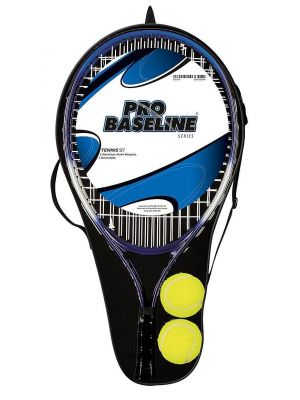 Baseline Tennis Racquets and Balls