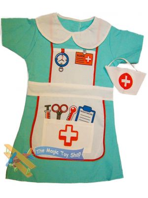 Girls Boys Dress Up Costume Kids Party Outfit Fancy Dress - Nurse