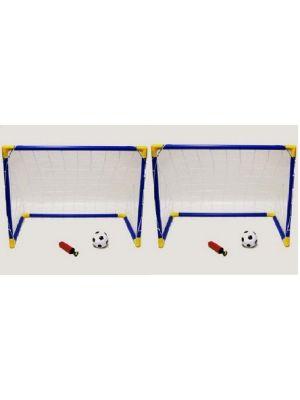 Kids Mini Football Goal Post Twin Set Kids Practice Soccer Goals Unibos