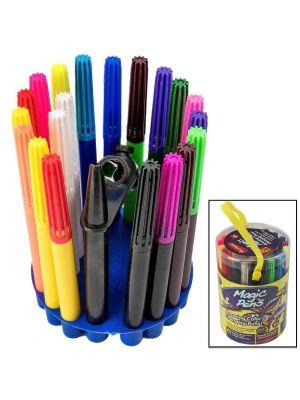 20Pc Magic Pens Colour Changing Pens Set Stencils Blow Pen Gift Set