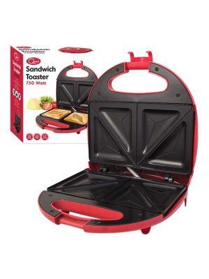 Electric 2 Slice Sandwich Toast Sandwich Maker Red 75 Watt Quest