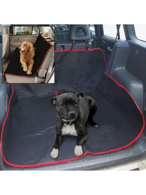 2 In 1 Waterproof Car Rear Seat Cover Pet Protector Boot Mat Liner