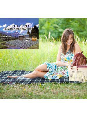 Jumbo Family Sized Picnic Rug Travel Blanket 3m x 2.2m