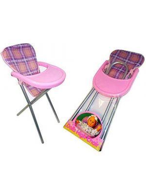 Dolls pink Feeding High Chair Girls Toy
