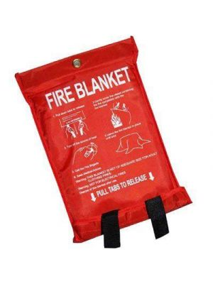 Home Safety Fire Blanket Large Quick Release Protection 1m x 1m
