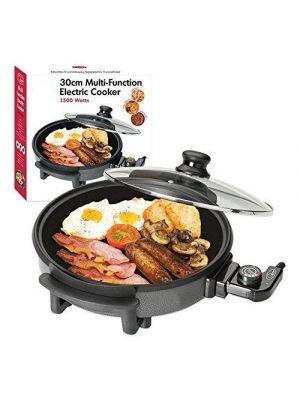 Quest 1500 Watt Multi Cooker with Medium 30cm Diameter Electric Frying Pan
