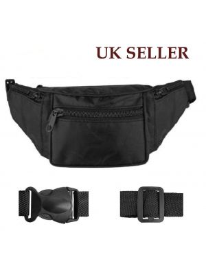 New Travel Bum Bag / Waist Bag / Belt Bag With 4 Zipped Pockets And Adjustabl...