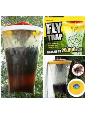 Pack of 2 - Top Red Drosophila Fly Traps Insect Catcher