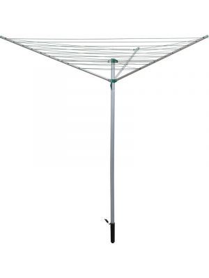 Kingfisher 3-Arm Rotary Clothes Airer, White, 30 m