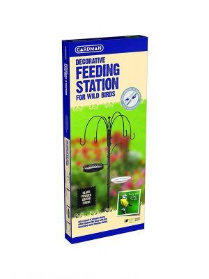 Gardman Decorative Bird Feeding Station - Black