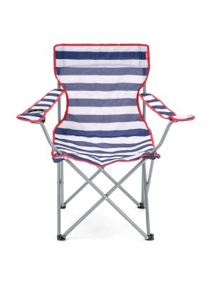 Yello Outdoor And Camping Chair Stripes Fishing Beach Picnic Garden Festival