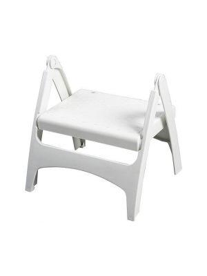 Portable Folding Plastic Step Stool Anti Slip Folds Flat Lightweight
