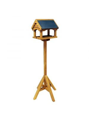Bird Table Bird Feeding Table Made From 100% Certified Eco Friendly FSC Wood With Slate Roof