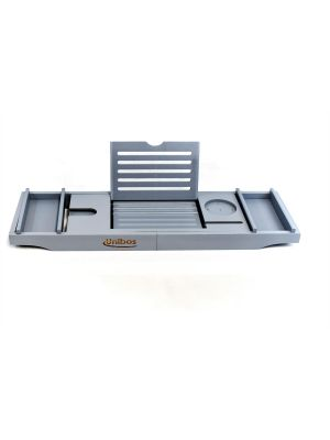 Luxury Extendable Bath Tub Caddy Bathroom Trays with Accessories Holder - Grey