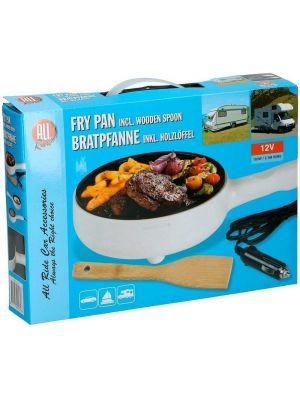 Frying pan Alupfanne for car 12 V 100 W + spoon wood camper car all ride