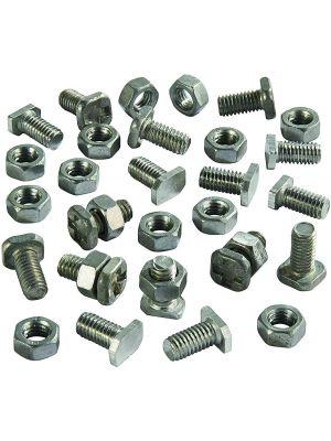 10 Pack Genuine Elite Aluminium Greenhouse Nuts & Bolts with Plastic Clip Strip