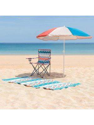 Yello BGG1720 Garden & Beach Parasol Umbrella, UPF 50+ Sunshade in Retro Pastel Design