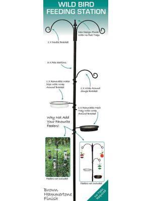 GardenG Feeding Station with Feeder Water Bath Seed Tray Hanging