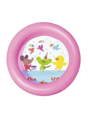 Baby Toddler Mini Inflatable 2 Ring Swimming Pool