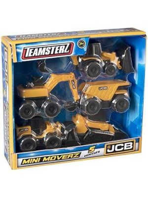 Unibos Mini Moverz Kids Toy Engineering Construction 5 Pack Vehicle Toys