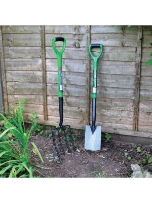 2 Pcs Gardening Tool Set Carbon Steel Fork and Spade Set