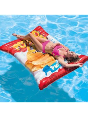 Giant Potato Chips inflatable Ride On Beach Toy Swimming Pool Float Lilo