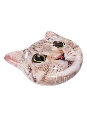 Inflatable Cat Face Island Mattress Lilo 147cm x 135cm Perfect for the pool