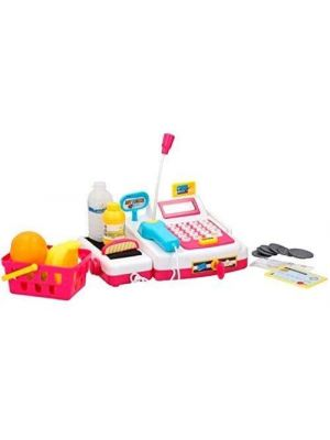 Eddy Toys toy cash register with groceries 14-piece