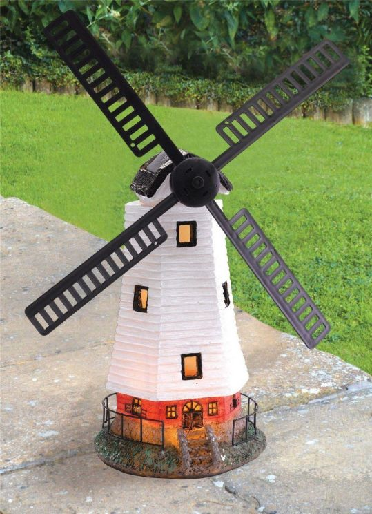 Buy Solar Powered Windmill Wind Powered Led Garden Ornament From Unibos