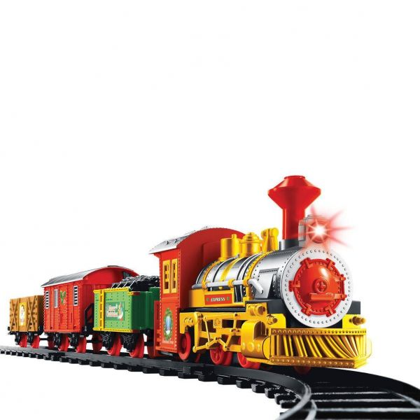 Christmas Train Set.The Christmas Workshop Battery Operated Christmas Train Set With Light And Sound