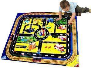 City Play Mat Wipe Clean With Damp Cloth Children Kids Fun Play Mat City Playmat
