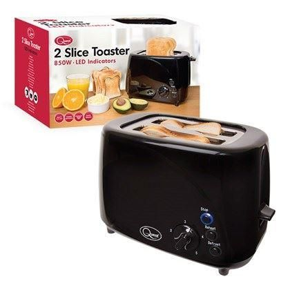 Unibos Kettle and 2 Slice Toaster Polished Stainless Steel Twin Pack