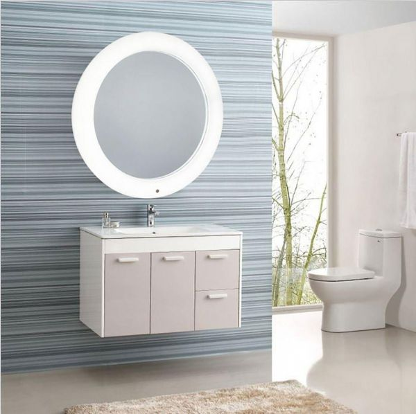 Taylor Brown Battery Operated Modern Round Led Illuminated Bathroom Mirror Light With Smart Touch Control